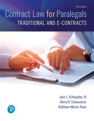 Contract Law for Paralegals: Traditional and E-Contracts-cover