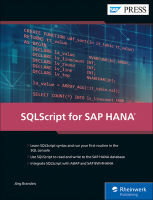 SQLScript for SAP HANA (SAP PRESS)-cover