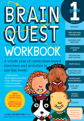 Brain Quest Workbook: 1st Grade [With Stickers]-cover