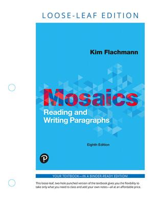 Mosaics: Reading and Writing Paragraphs, Books a la Carte Edition-cover