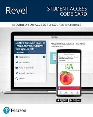 Revel for Starting Out with Java: Control Structures Through Objects -- Access Card-cover