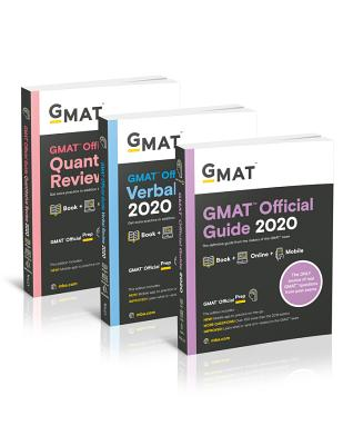 GMAT Official Guide 2020 Bundle: 3 Books + Online Question Bank-cover