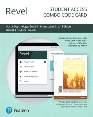 Revel for Social Psychology: Goals in Interaction -- Combo Access Card-cover
