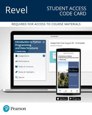 Revel for Introduction to Python Programming and Data Structures -- Access Card
