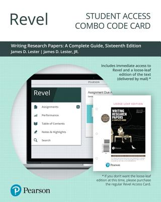 Revel for Writing Research Papers: A Complete Guide -- Combo Access Card-cover