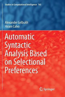 Automatic Syntactic Analysis Based on Selectional Preferences-cover