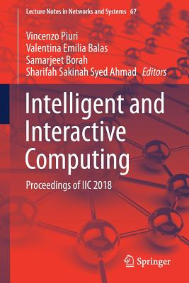 Intelligent and Interactive Computing: Proceedings of IIc 2018-cover