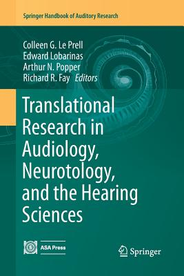 Translational Research in Audiology, Neurotology, and the Hearing Sciences-cover