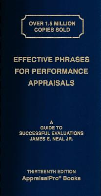 Effective Phrases for Performance Appraisals: A Guide to Successful Evaluations-cover