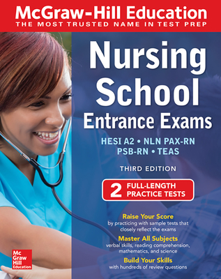 McGraw-Hill Education Nursing School Entrance Exams, Third Edition-cover