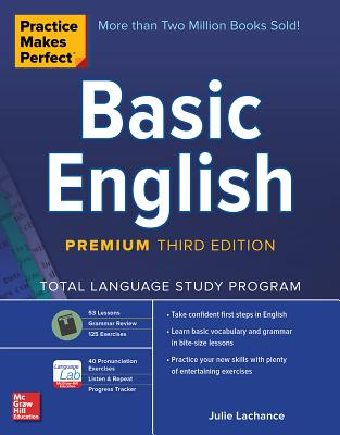 Practice Makes Perfect: Basic English, Premium Third Edition-cover