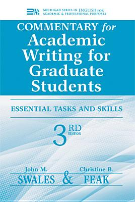 Commentary for Academic Writing for Graduate Students: Essential Tasks and Skills-cover