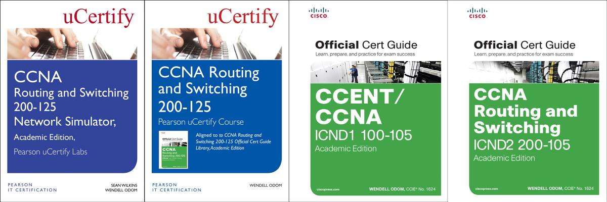 CCNA Routing and Switching 200-125 Pearson Ucertify Course, Network Simulator, and Textbook Academic Edition Bundle-cover