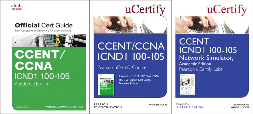 Ccent Icnd1 100-105 Pearson Ucertify Course, Network Simulator, and Textbook Academic Edition Bundle-cover