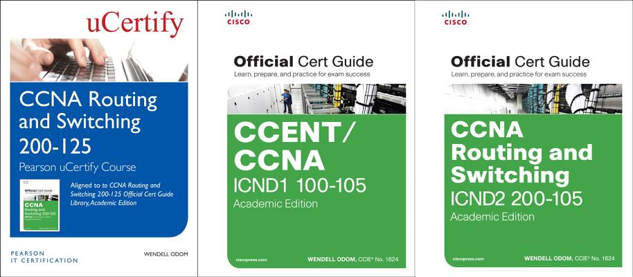 CCNA Routing and Switching 200-125 Pearson Ucertify Course and Textbook Academic Edition Bundle-cover