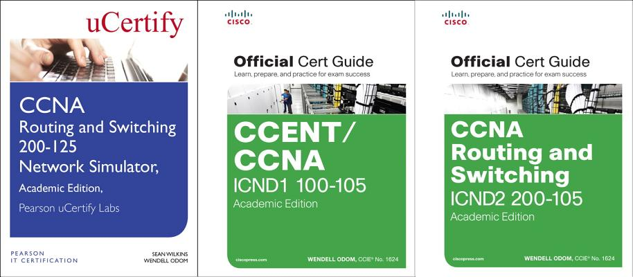 CCNA Routing and Switching 200-125 Official Cert Guide Library and Pearson Ucertify Network Simulator Academic Edition Bundle-cover