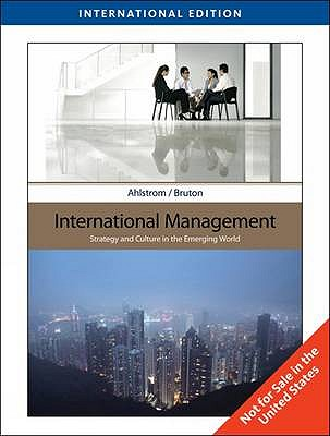 International Management: Strategy and Culture in The Emerging (Paperback)