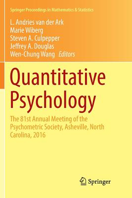 Quantitative Psychology: The 81st Annual Meeting of the Psychometric Society, Asheville, North Carolina, 2016-cover