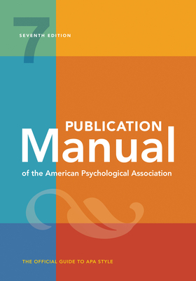 Publication Manual of the American Psychological Association (Paperback)-cover