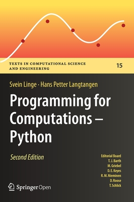 Programming for Computations - Python: A Gentle Introduction to Numerical Simulations with Python 3.6-cover