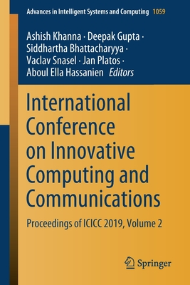 International Conference on Innovative Computing and Communications: Proceedings of ICICC 2019, Volume 2-cover