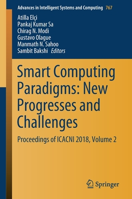 Smart Computing Paradigms: New Progresses and Challenges: Proceedings of Icacni 2018, Volume 2-cover