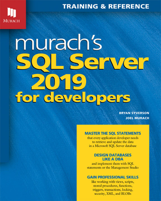 Murach's SQL Server 2019 for Developers-cover