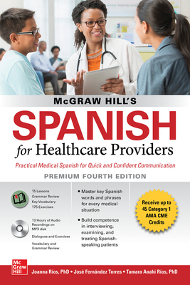 McGraw Hill's Spanish for Healthcare Providers (with MP3 Disk), Premium Fourth Edition-cover