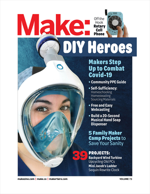 Make: Volume 73: Plan C: Makers Respond to Covid-19-cover