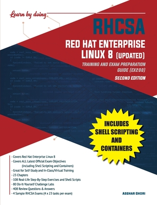 RHCSA Red Hat Enterprise Linux 8 (UPDATED): Training and Exam Preparation Guide (EX200), Second Edition-cover