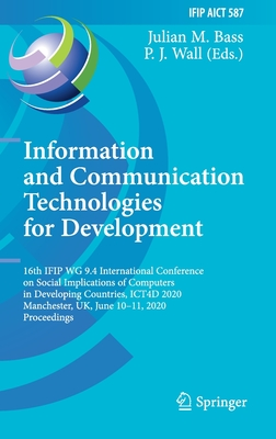 Information and Communication Technologies for Development: 16th Ifip Wg 9.4 International Conference on Social Implications of Computers in Developin-cover