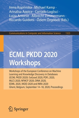 Ecml Pkdd 2020 Workshops: Workshops of the European Conference on Machine Learning and Knowledge Discovery in Databases (Ecml Pkdd 2020): Sogood-cover