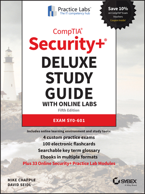 Comptia Security+ Deluxe Study Guide with Online Labs: Exam Sy0-601-cover
