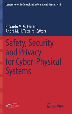 Safety, Security and Privacy for Cyber-Physical Systems-cover