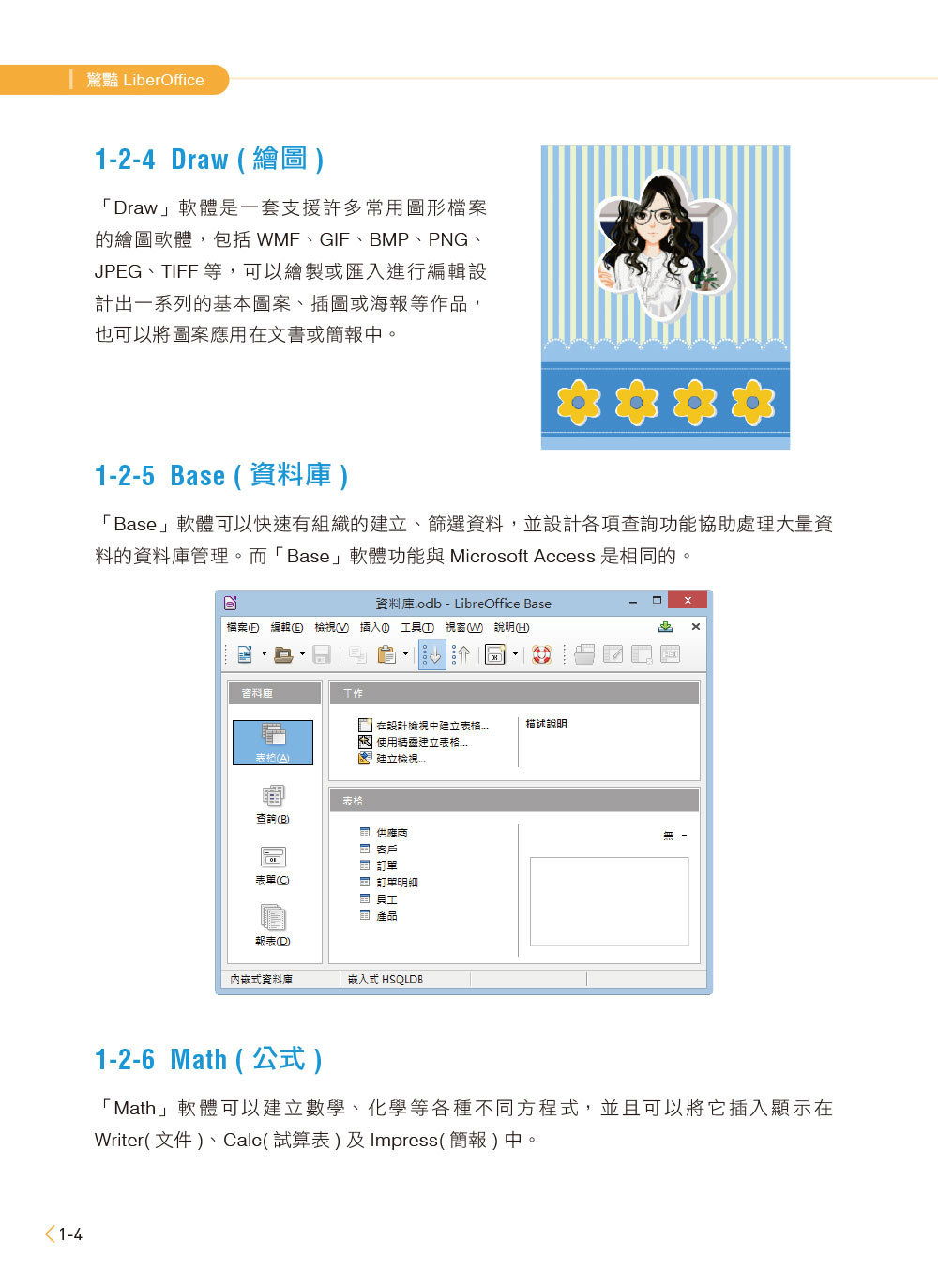LibreOffice 5.x 商務實例應用 -- Writer、Calc、Impress (附影音教學與範例光碟)-preview-4