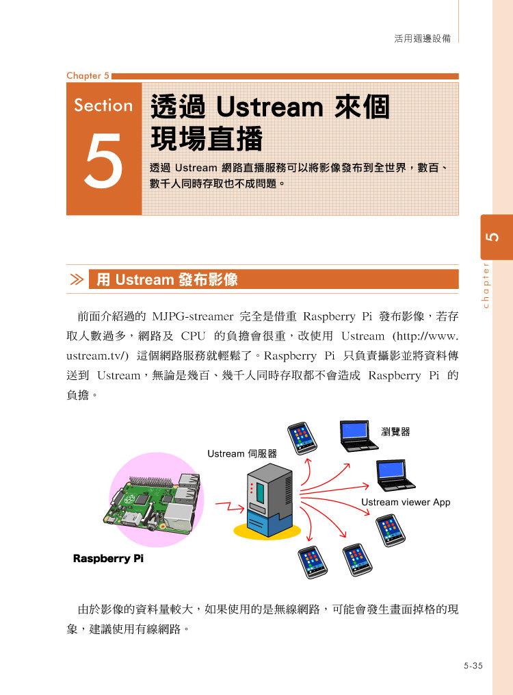 Raspberry Pi 好好玩不卡關!開直播‧玩 NAS ‧ 手機監測器 ‧ 遙控推土機 ‧ 自動PO文機 ‧ 防盜系統輕鬆搞定-preview-3