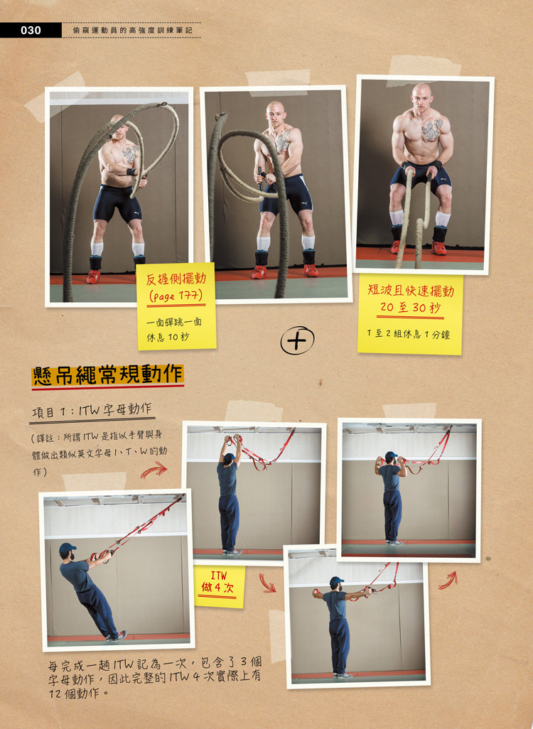 偷窺運動員的高強度訓練筆記 - 壺鈴、槓鈴、戰繩、沙袋、輪胎、地雷管全面啟動-preview-3