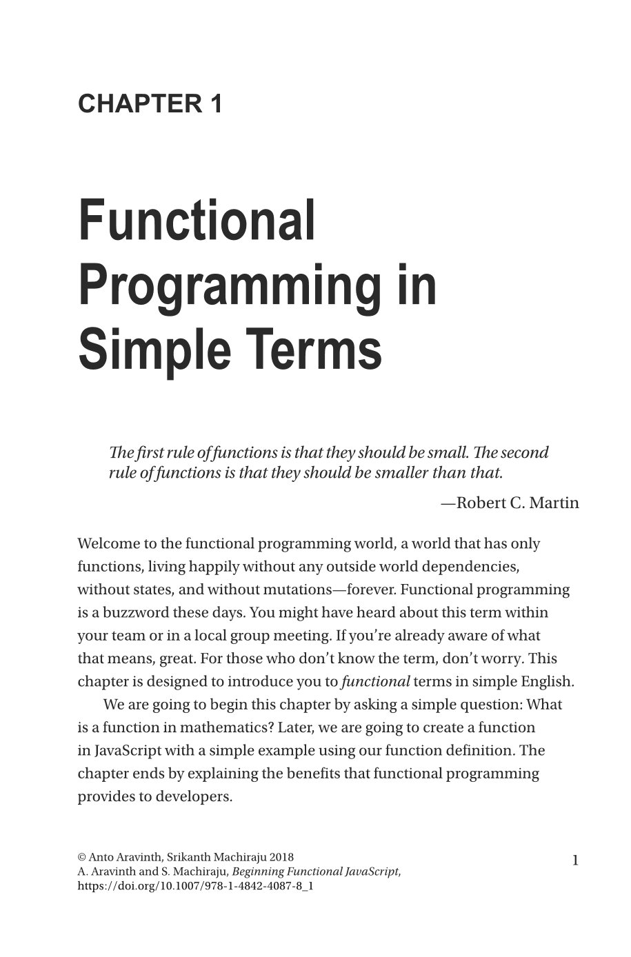 Beginning Functional JavaScript: Uncover the Concepts of Functional Programming with EcmaScript 8-preview-1