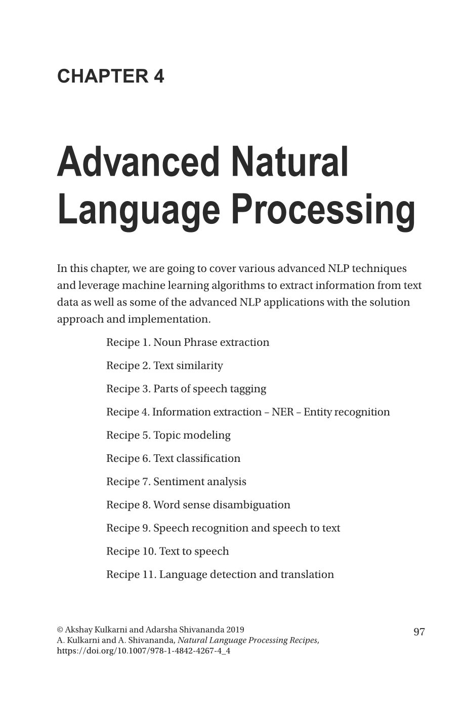 Natural Language Processing Recipes: Unlocking Text Data with Machine Learning and Deep Learning using Python-preview-3