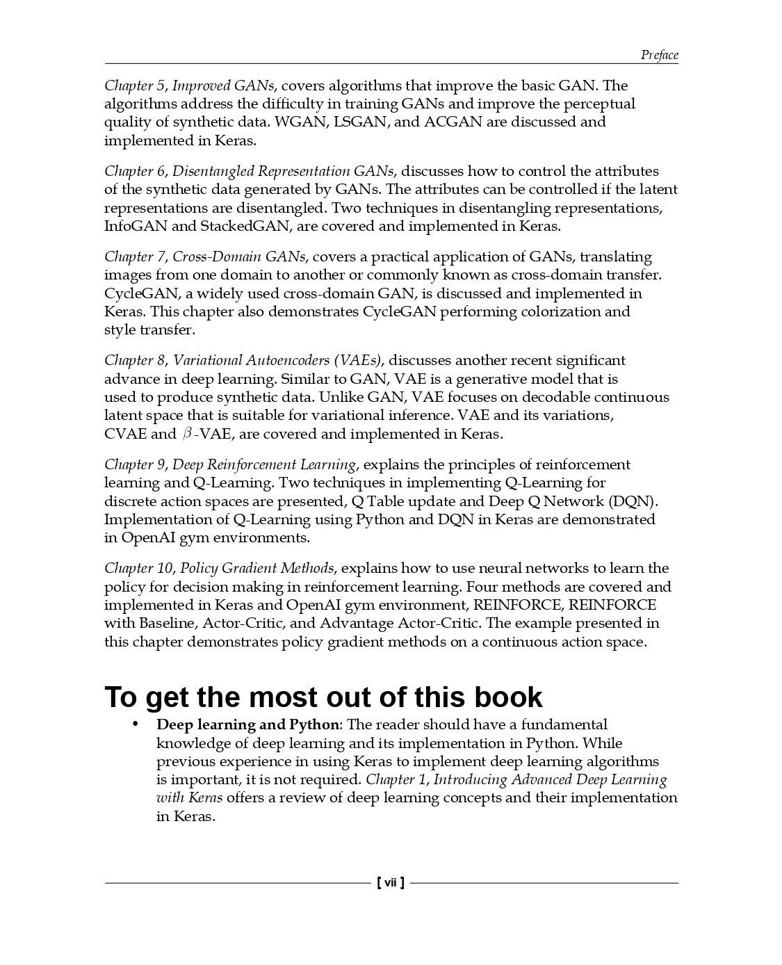 天瓏網路書店 | Advanced Deep Learning with Keras: Applying GANs and other new  deep learning algorithms to the real world (Paperback)