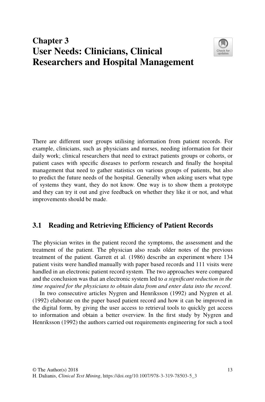 Clinical Text Mining: Secondary Use of Electronic Patient Records-preview-5
