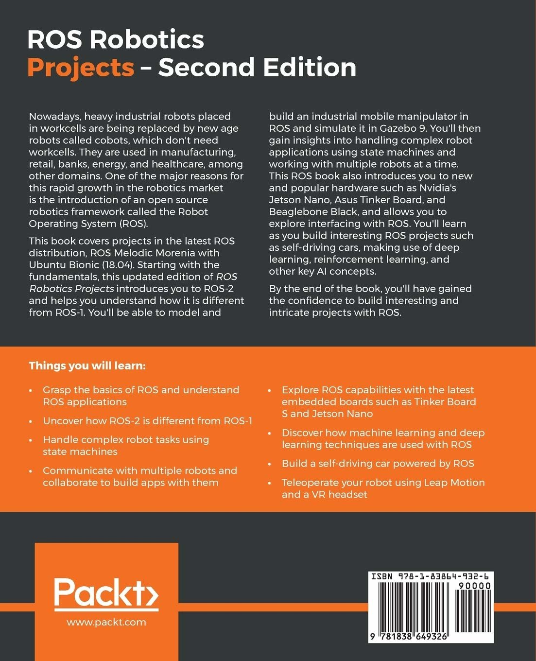 ROS Robotics Projects, 2/e (Paperback)-preview-1