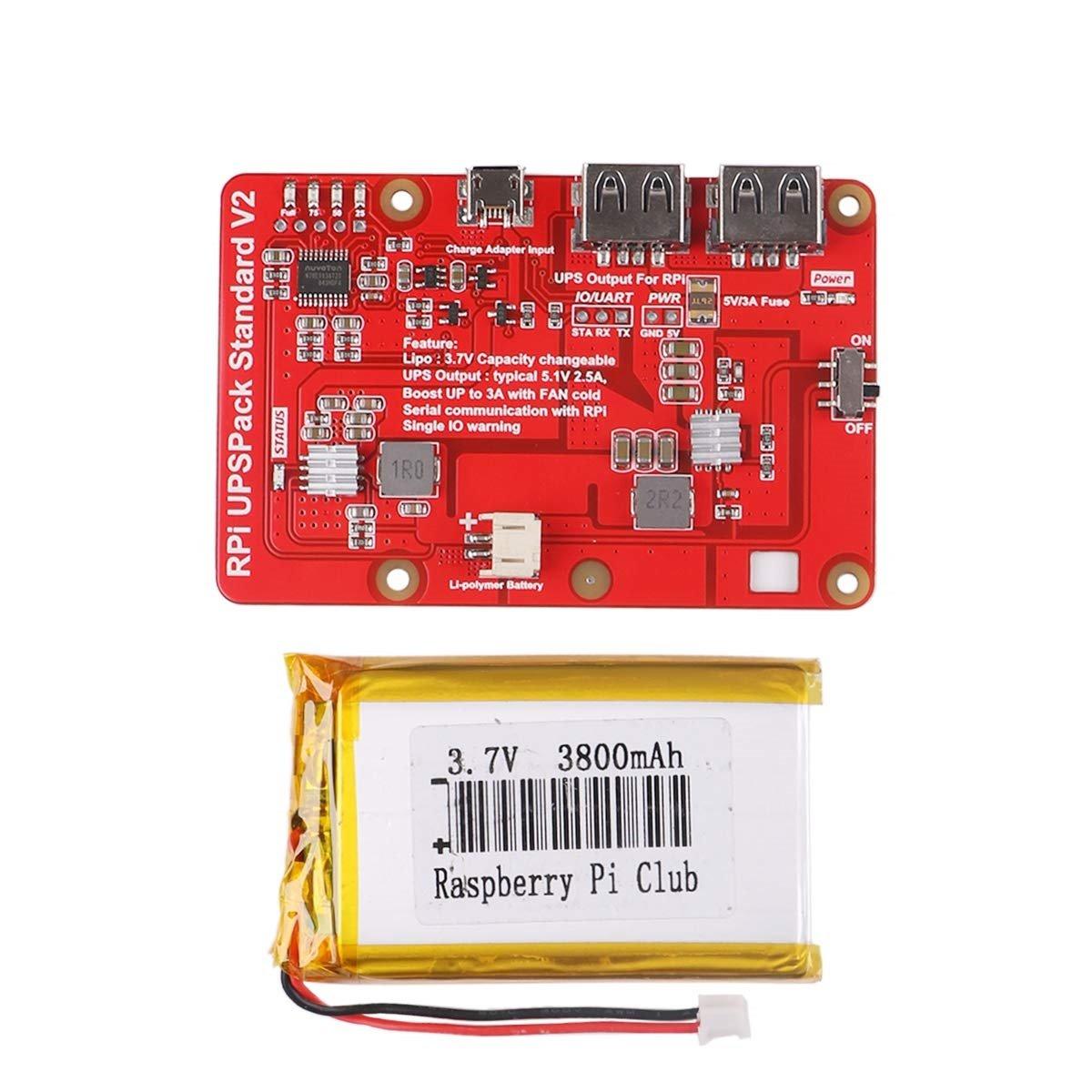 樹莓派 UPS 鋰電池擴充板 | USB 雙輸出電源供應模組 (V2)-preview-1