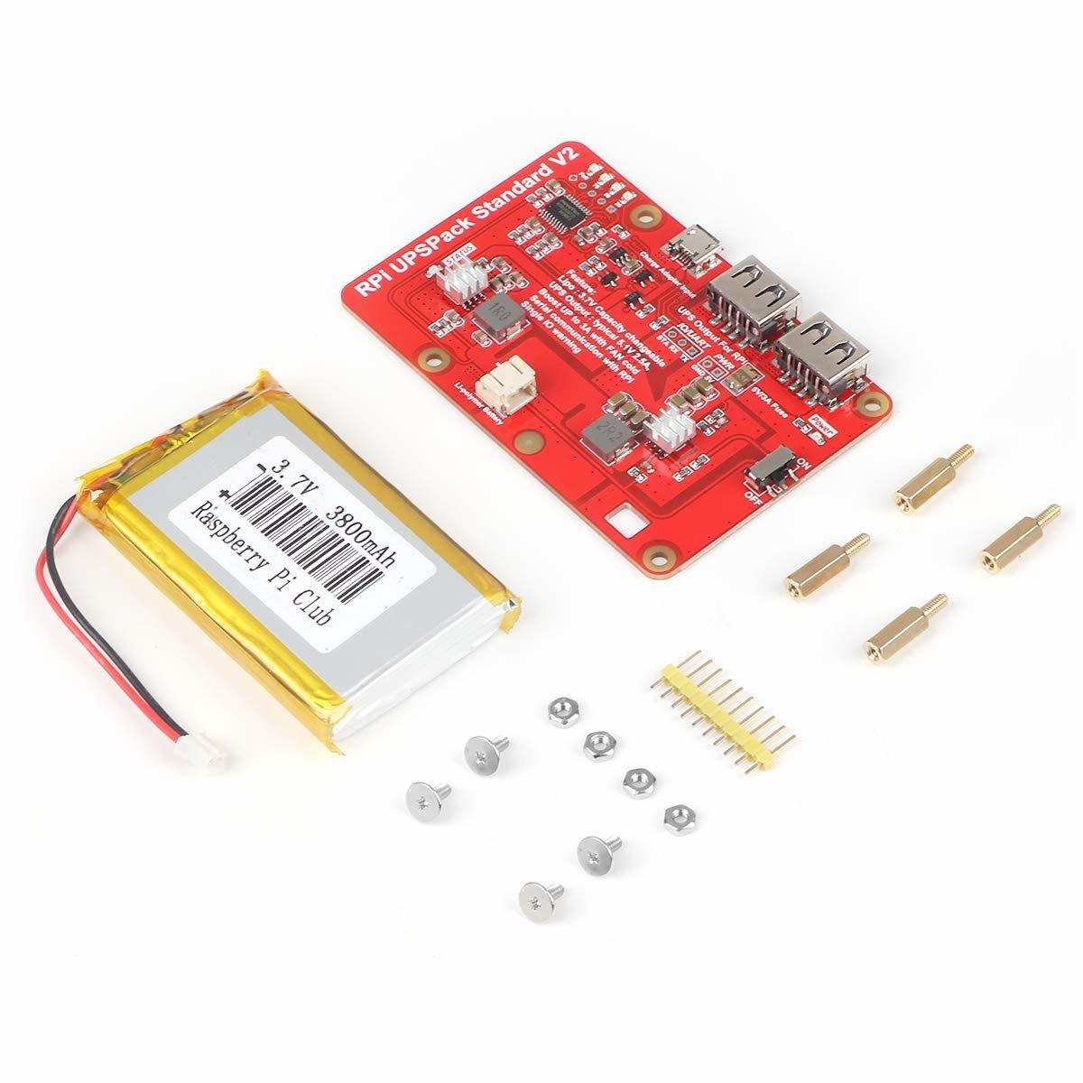樹莓派 UPS 鋰電池擴充板 | USB 雙輸出電源供應模組 (V2)-preview-2