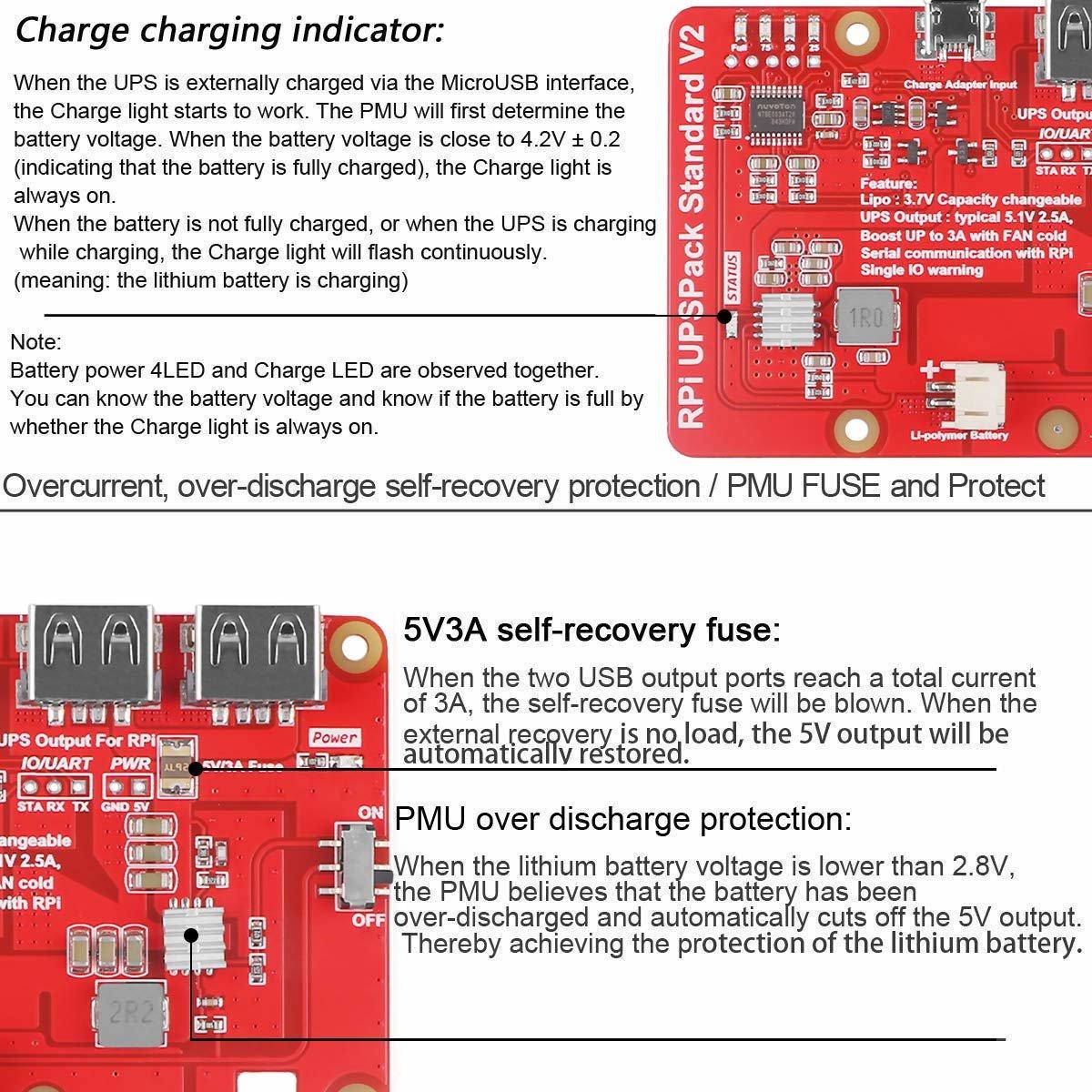 樹莓派 UPS 鋰電池擴充板 | USB 雙輸出電源供應模組 (V2)-preview-6