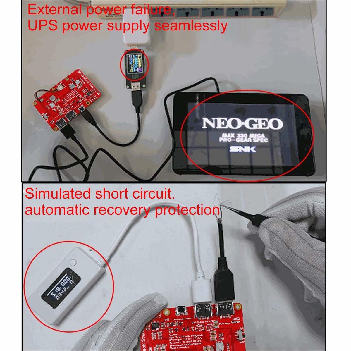 樹莓派 UPS 鋰電池擴充板 | USB 雙輸出電源供應模組 (V2)-preview-8