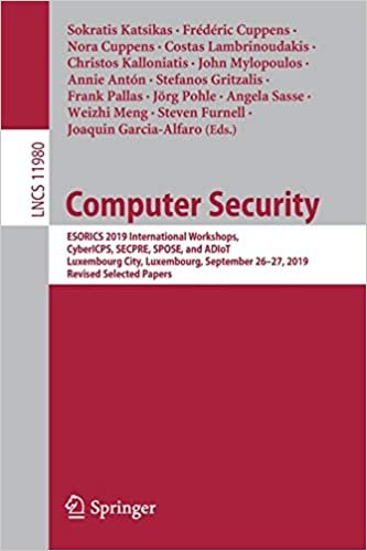 Computer Security: Esorics 2019 International Workshops, Cybericps, Secpre, Spose, and Adiot, Luxembourg City, Luxembourg, September 26-2-preview-1