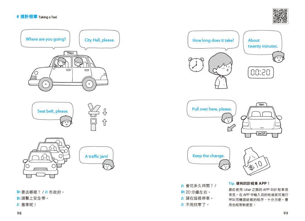 全圖解一天 3分鐘情境英語:生活與旅行會話雙效合一 (附MP3 QR Code)-preview-6