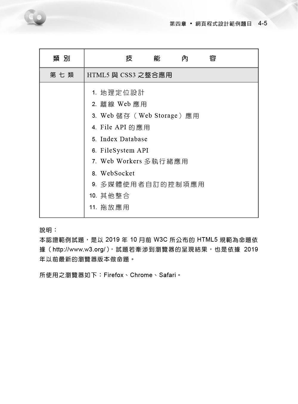 TQC+ 網頁程式設計認證指南 HTML5 (第二版)-preview-5