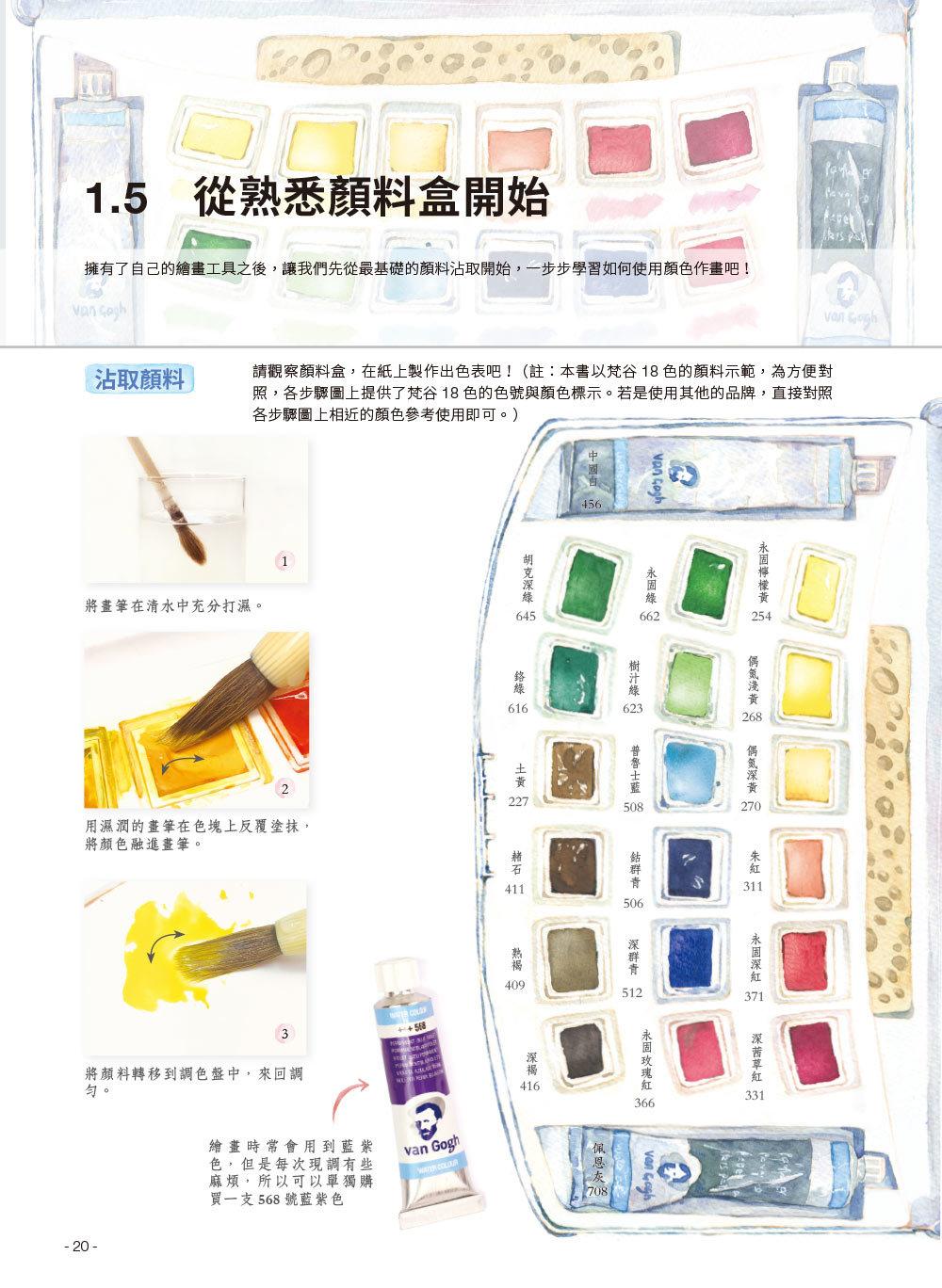 水彩畫自學聖經:7大主題,51個自學要點,一本最全面的水彩繪畫技巧寶典!-preview-1